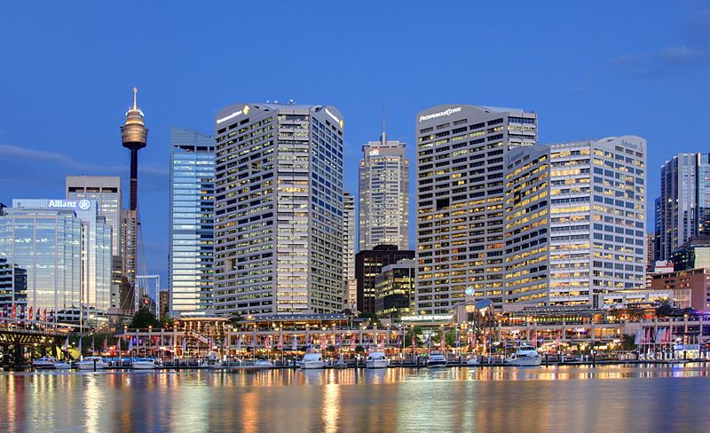 Darling Harbour at twilight